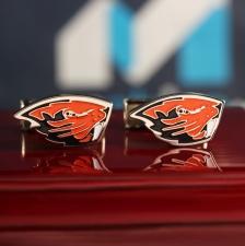 "Запонки с логотипом команды ""Oregon State"""