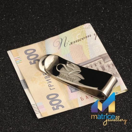 Зажим для денег из серебра