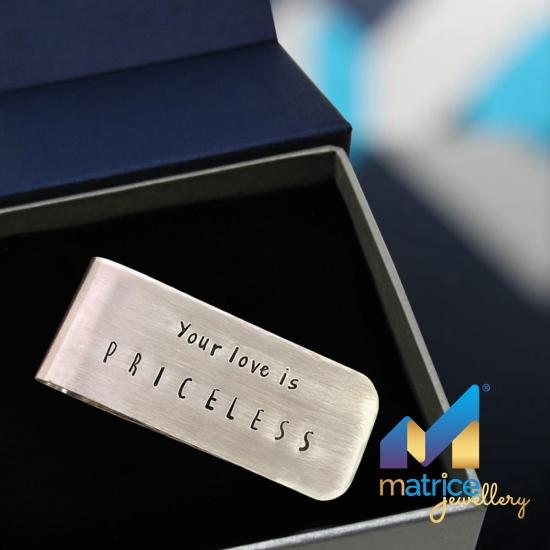 "Зажим для денег ""Your love is priceless"""