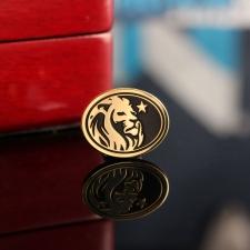 Серебряный значок с позолотой Лев